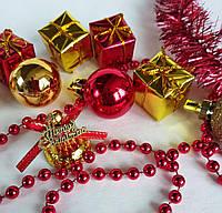 Набор новогодних украшений  9шт.+мишура+гирлянда, фото 1