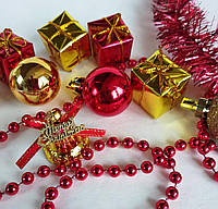 Набор новогодних украшений  9шт.+мишура+гирлянда
