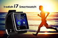 Умные часы Iradish i7 для iOs и Андроид, экран 1.54 дюйма, Bluetooth, шагомер, полностью на русском языке