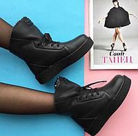 Ботинки женские зимние кожаные на шнурках Carlo Pachini
