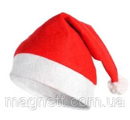 Новогодняя Шапка Деда Мороза Колпак Санта Клауса 28х34см