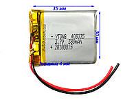 Аккумулятор 380 мАч 403035 3,7в для видеорегистратора, сигнализации, игрушек, наушников, Bluetooth (380mAh)