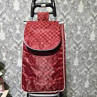 Тележка хозяйственная с сумкой на металлических колёсах, фото 1