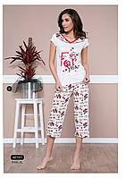 "Женская пижама, домашний костюм футболка и капри/бриджи Moyra Caprice ""Бобер"" 42101"