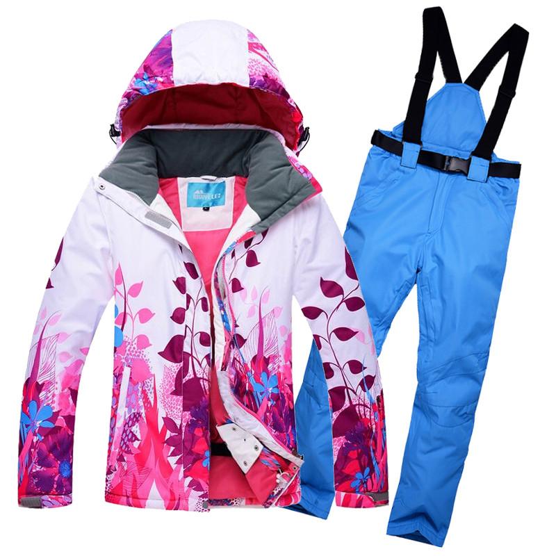"""Лыжный костюм """"Листья"""" - 8 вариантов"""