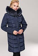 Зимнее женское пальто Дайкири короткая,мех песец хвост 60,64р
