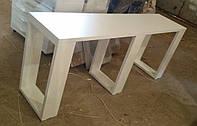 Маникюрный стол для 2х мастеров, маникюрный стол без ящиков,  Модель V306 белый