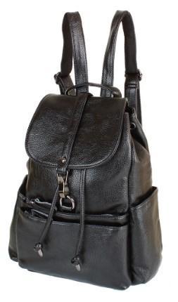6560217fd165 Женский кожаный рюкзак ETERNO RB-NWBP27-8836A-BP на 12 л черный ...