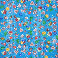 Ткань вафельная для скатертей и полотенец ш.150 Новый год
