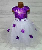 """Платье нарядное """"Жасмин"""" (молния,шнуровка)  3-6 лет, цвет: белый"""