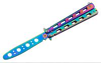 Балисонг хамелеон резной, нож бабочка, тренировочное оружие для трюков (флипперов), филиппинский нож