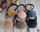 Резинки для волос с меховыми помпонами 12 шт/уп, фото 3