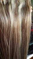 Волосы на заколках русые мелированные., фото 1