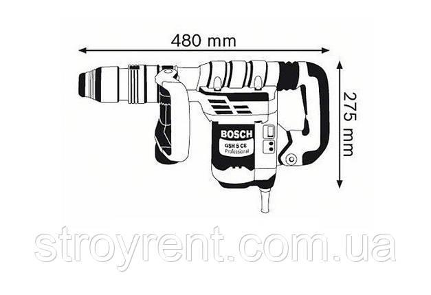 Отбойный молоток BOSCH GSH 5 CE - аренда, прокат, фото 2