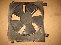 Мотор электродвигатель вентилятор радиатора + диффузор Daewoo Lanos Деу Део Ланос, фото 1