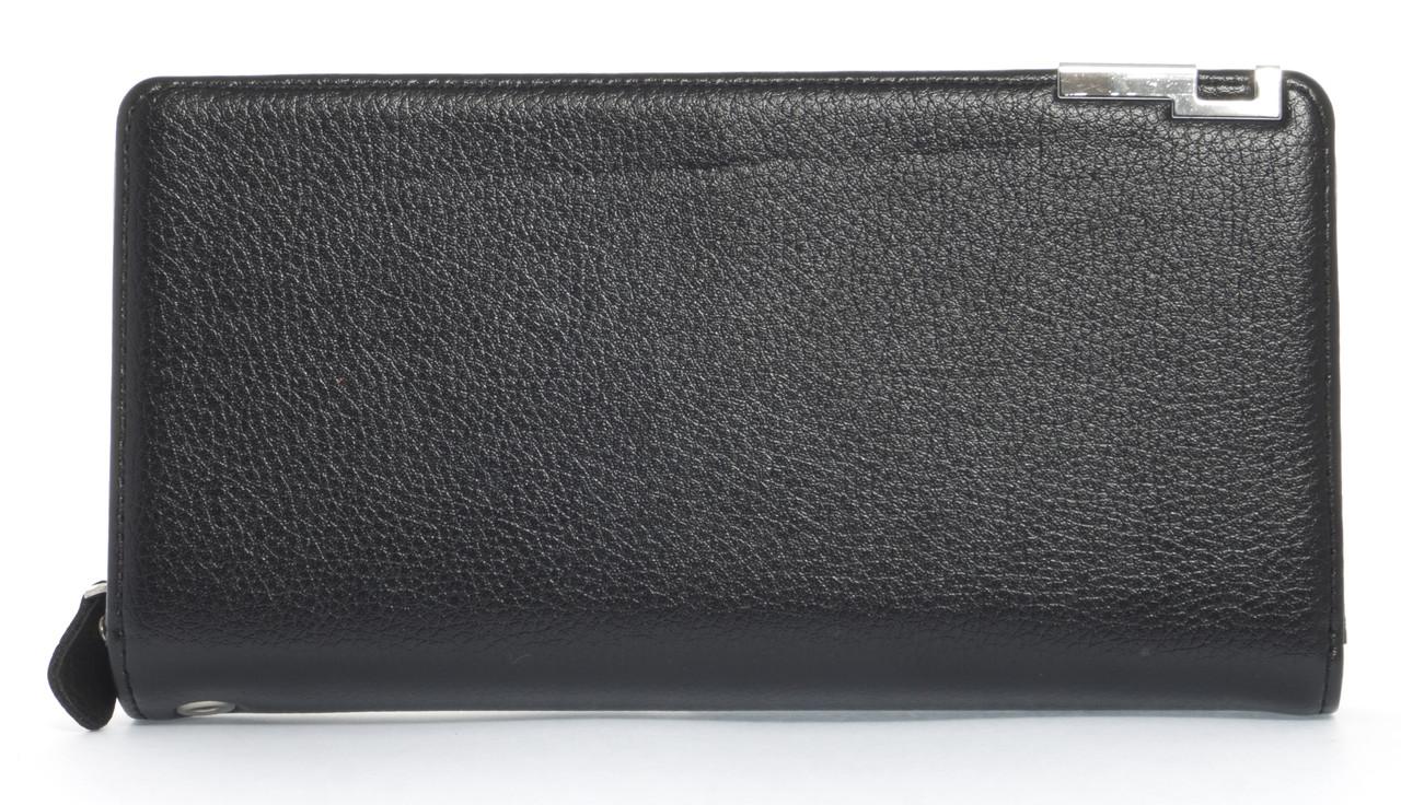 Мужской стильный классический портмоне барсетка с качественной PUкожиFUERDANNI art. 882 ЧЕРНЫЙ