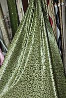 Ткань блэкаут зеленый