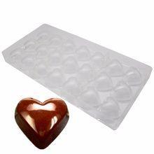 """Форма для конфет поликарбонат """"Сердце"""" Галетте - 02536"""