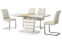 Раздвижной стол TM-59 белый+дуб натуральный 140/180 от Vetro Mebel