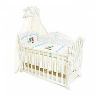 Детская постель Twins Evolution Сова 021  белый зеленый -  4 эл