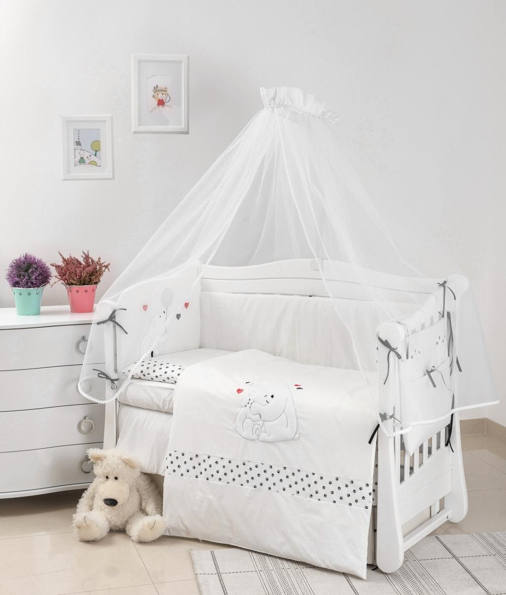 Дитяче ліжко Twins Evo Полярні ведмеді білий 7 ел