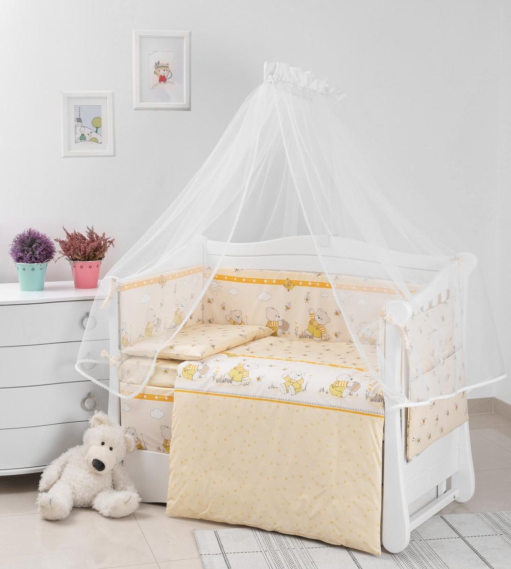 Детская постель Twins Comfort New Медуны 7 эл C-110 yellow