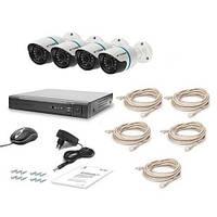 Комплект видеонаблюдения Tecsar IP 4OUT LUX (7361)