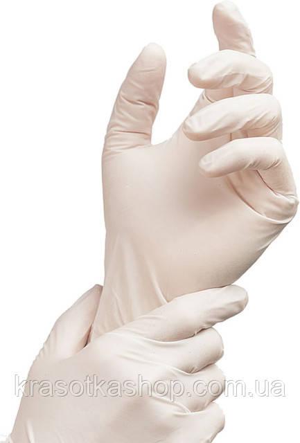 Перчатки виниловые (S,М), 100 шт/уп. неопудренные