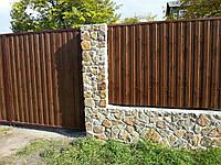 Забор из профнастила ПК 10 из 0,45