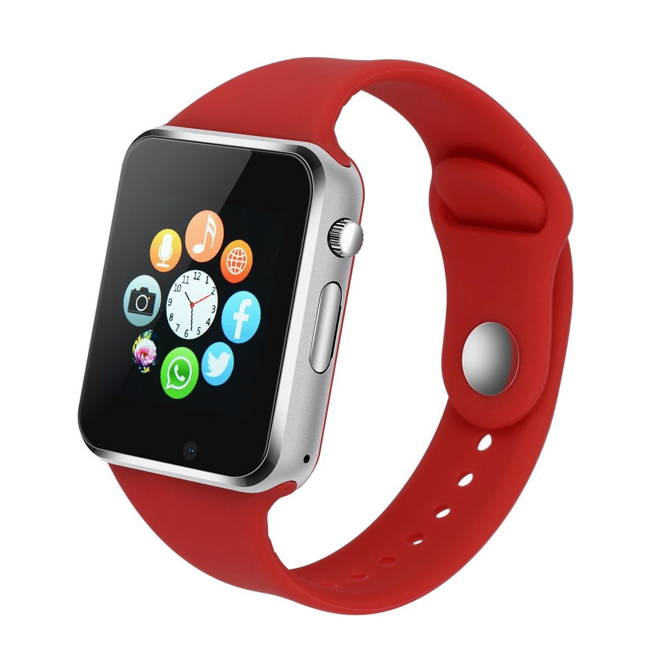 Смарт Часы Smart Watch Phone A1 красные Оригинал