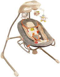 Кресло-качалка Baby Mix BY028 /мобиль/ серый