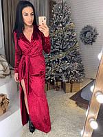 Женское красивое велюровое платье в пол (5 расцветок)