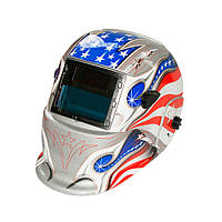 Сварочная маска хамелеон OPTECH S777 SilverFlag ( 2 сенсора )