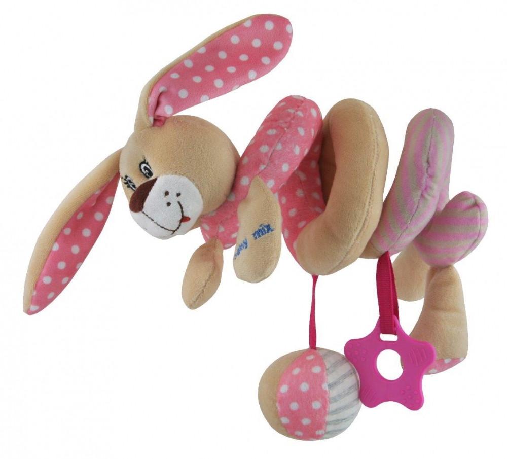 Плюшевая спираль Baby Mix STK-17507 розовый