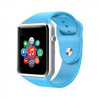 Смарт Часы Smart Watch Phone A1 синие Оригинал