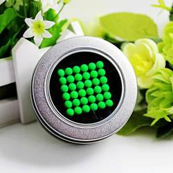 Неокуб 216 шариков 5мм Светящийся зеленый  + Коробка + мешочек + карточка в Подарок Game toys