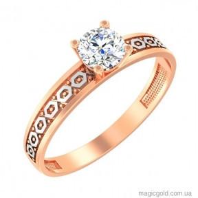 Золотое кольцо для девушки Фрезия