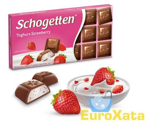 Шоколад Schogetten Yoghurt-Strawberry йогурк, клубника 100 гр