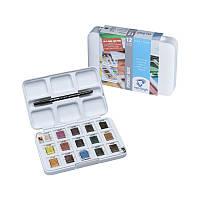 Набор акварельных красок VAN GOGH Pocket box 12 кювет+3 БЕСПЛАТНО Royal Talens