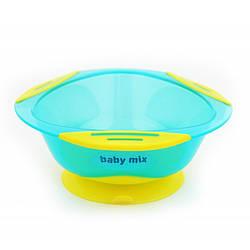 Тарелочка на присоске Baby Mix RA-D2-1100 голубой