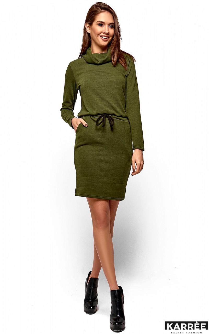 faa7e1efcc2 Теплое платье осень зима из ангоры хаки - Интернет-магазин одежды ALLSTUFF  в Киеве