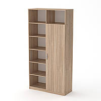 Шкаф книжный МС-13 дуб сонома Компанит, фото 1