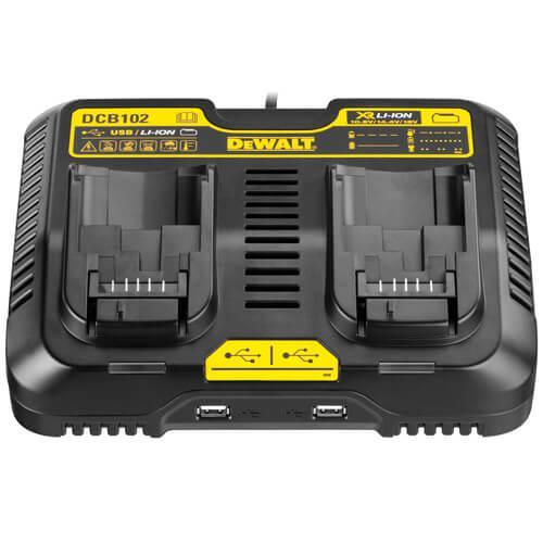 Зарядное устройство двухрядное DeWALT DCB102