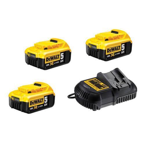 Зарядное устройство и 2 аккумулятора DCB184 5Ач DeWALT DCB105P3