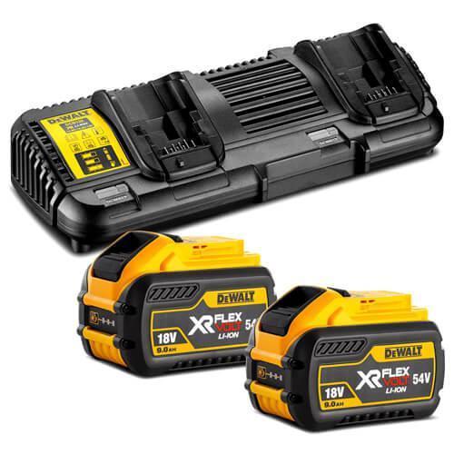 Зарядное устройство и 2 аккумулятора XR FLEXVOLT DCB547 9Ач DeWALT DCB132X2