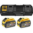 Зарядное устройство и 2 аккумулятора XR FLEXVOLT DCB547 9Ач DeWALT DCB132X2, фото 2