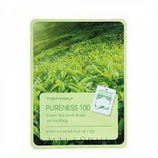 Маска ткан.успокаивающая с экстракт.зеленого чая TONY MOLY PURENESS 100 GREEN TEA MASK SHEET 21ml