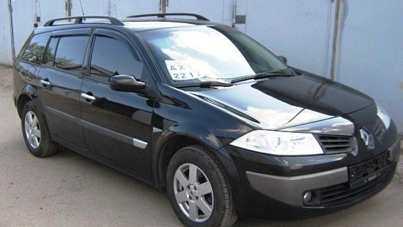Дефлекторы окон (ветровики) RENAULT Megane II wagon 5d 2002-2008