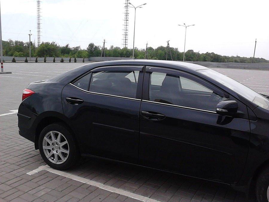 Дефлекторы окон (ветровики) Тойота Corolla Sd 2013
