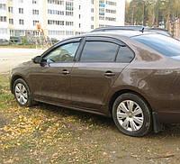 Дефлекторы окон (ветровики) Volkswagen Jetta VI Sd 2010/Sagitar 2012